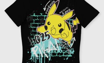 Pokémon Black Pikachu T-Shirt