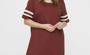 Burgundy Sport Sleeve Dress