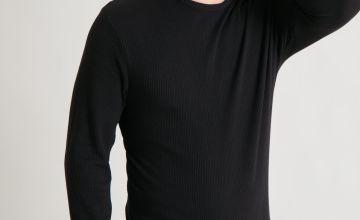 Black Long Sleeve Thermal T-Shirt