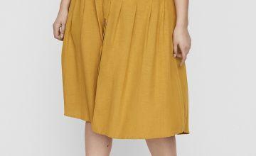 Yellow Midi Skirt