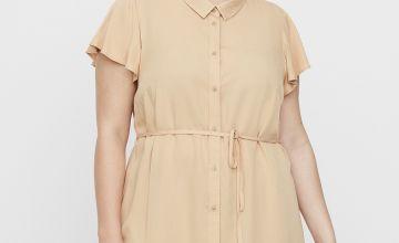 Beige Longline Shirt