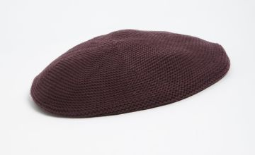 Purple Knitted Beret - One Size
