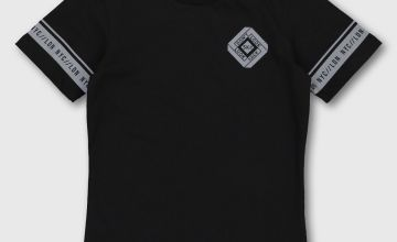 Black 'Future' Reflective T-Shirt