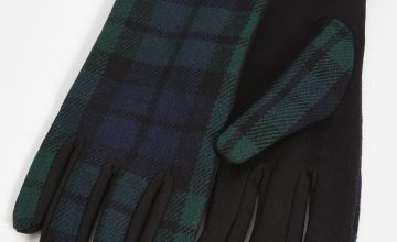 Tartan Check Gloves - One Size