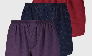 Spotted Woven Boxers 3 Pack