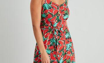 Watermelon Print Cami Dress