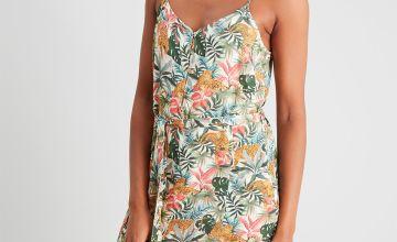 Safari Leopard Print Cami Dress