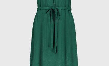 Green Jacquard Leaf Dress