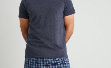 Navy & Check Shortie Pyjamas