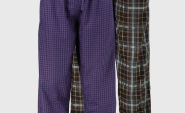 Gingham & Check Pyjama Bottoms 2 Pack