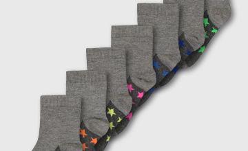 Neon Star Ankle Socks 7 Pack