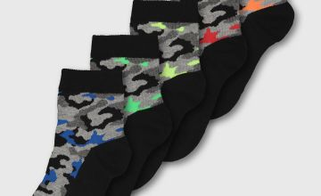 Camo Ankle Socks 5 Pack