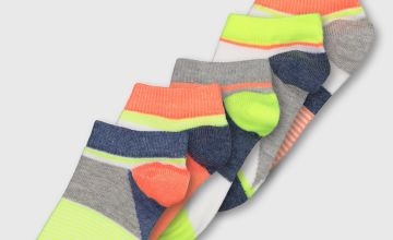 Neon Trainer Socks 5 Pack
