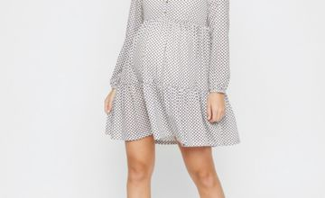 Diamond Print Jersey Maternity Dress
