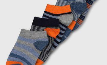 Stripe Trainer Sock 5 Pack