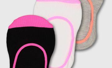 Black & Neon Footsie 3 Pack