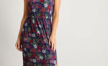 Parrot Print Maxi Dress