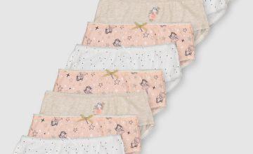 Pink Fairy Briefs 10 Pack