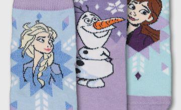 Disney Frozen 2 Blue & Lilac Socks 3 Pack