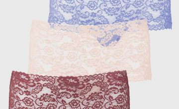 Nude, White & Black Galloon Lace Knickers 3 Pack