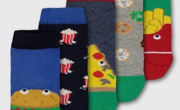 Novelty Food Fun Socks 5 Pack