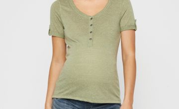 Green Jersey Maternity Top