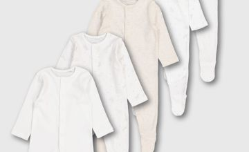 Safari Print Sleepsuits 5 Pack