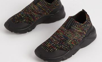 Black Speckled Sock Trainers