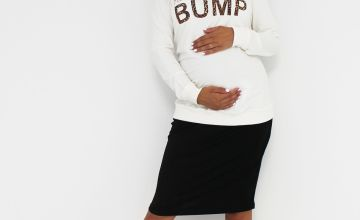 MATERNITY Black Jersey Tube Skirt