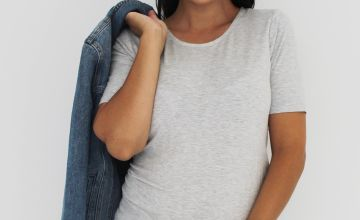 Maternity Grey Marl T-Shirt