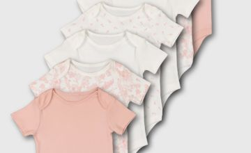 Pink Short Sleeve Bodysuit 7 Pack