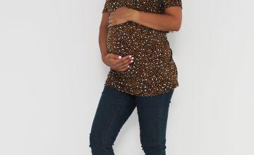 Maternity Leopard Print Jersey Swing Tunic