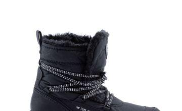Black Vegan Moon Boot
