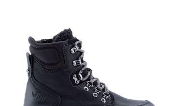 Black Chunky Vegan Hiker Boots