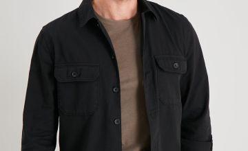 Black Long Sleeve Overshirt
