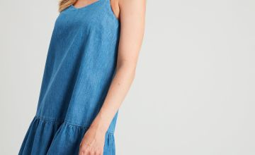Denim Tiered Cami Dress