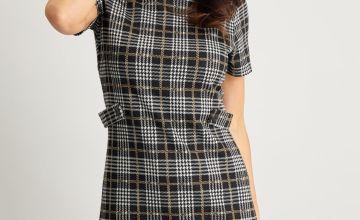 Check Tab Waist Dress