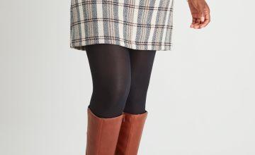 Herringbone Check Mini Skirt