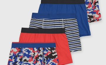 Blue Camouflage Trunks 5 Pack