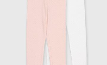 Pink & White Thermal Leggings 2 Pack