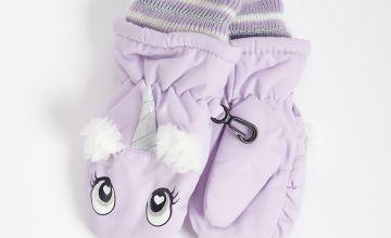 3M Lilac Unicorn Ski Gloves