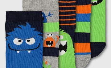 Bright Monster Socks 5 Pack