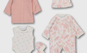 Pink Floral Premature 5 Piece Starter Set