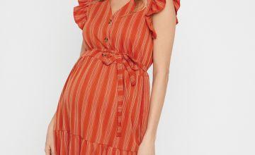 Red Stripe Maternity Dress