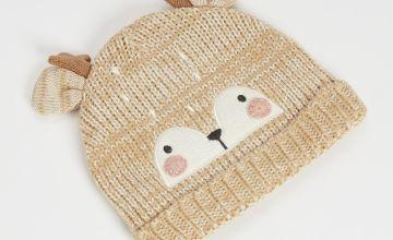 Brown Deer Knitted Hat
