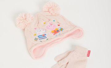 Peppa Pig Hat & Gloves Set
