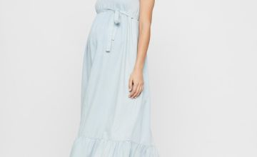 Denim Maxi Maternity Dress