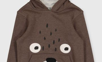 Brown Grizzly Bear Pull-Over Hoodie