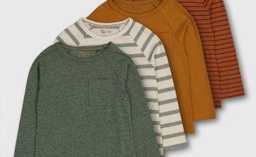 Stripe & Plain Tops 4 Pack