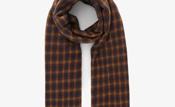 Brown Check Scarf - One Size